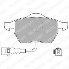 Brake pads front 312 x 25mm With Wear Indicators